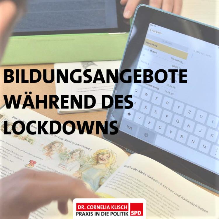 Bildungsangebote während des Lockdowns